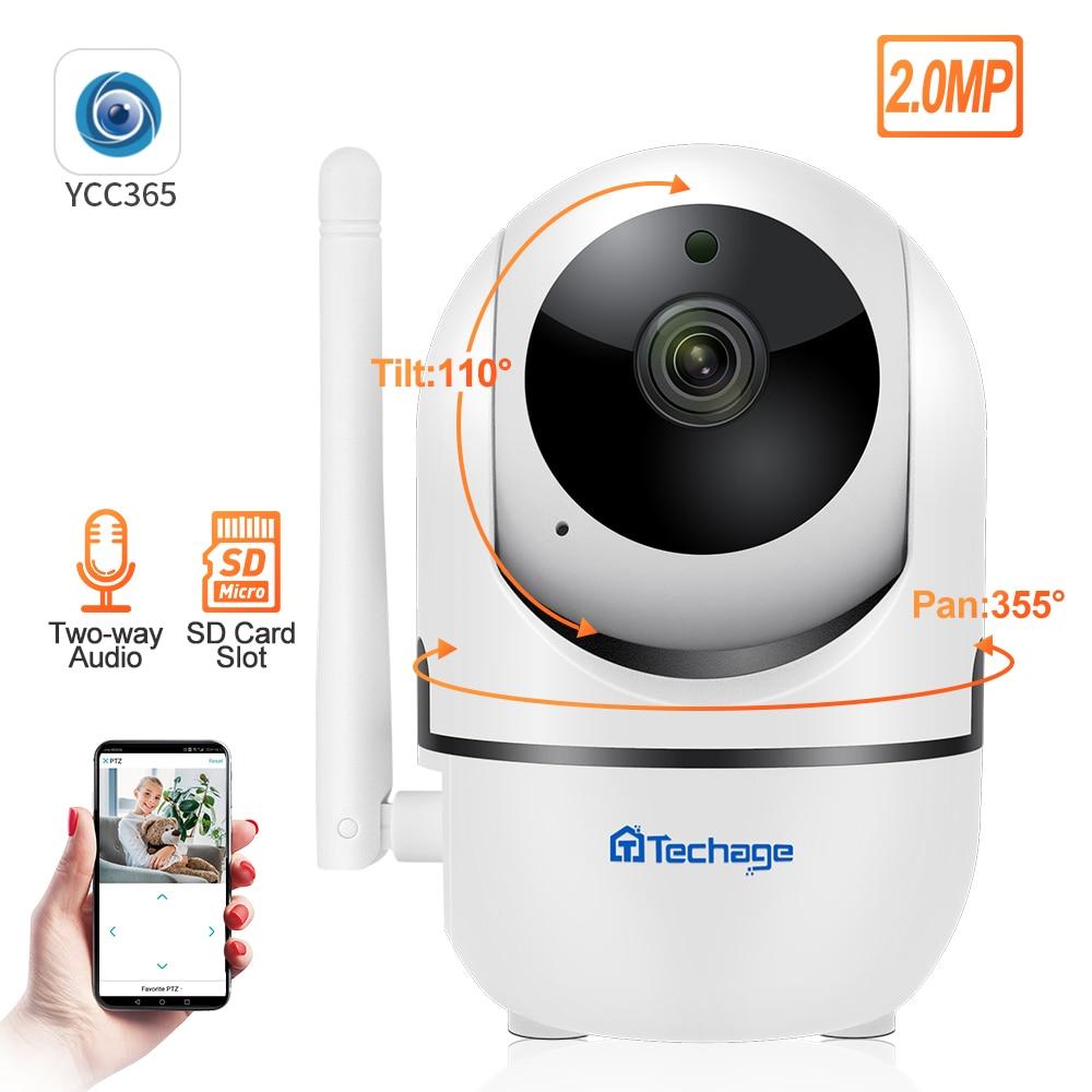 Techgae 1080P HD  Baby P2PMonitor Cloud  Mini IP Camera CCTV  WiFi  Wireless Auto MotionTrackingVideo Security Surveillance
