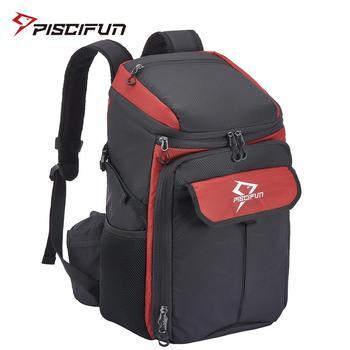 Piscifun Insulated Cooler Backpack Bag Nylon Shoulder Thermal Bag  for Family Lunch Picnic Travel Camping Hiking Fishing