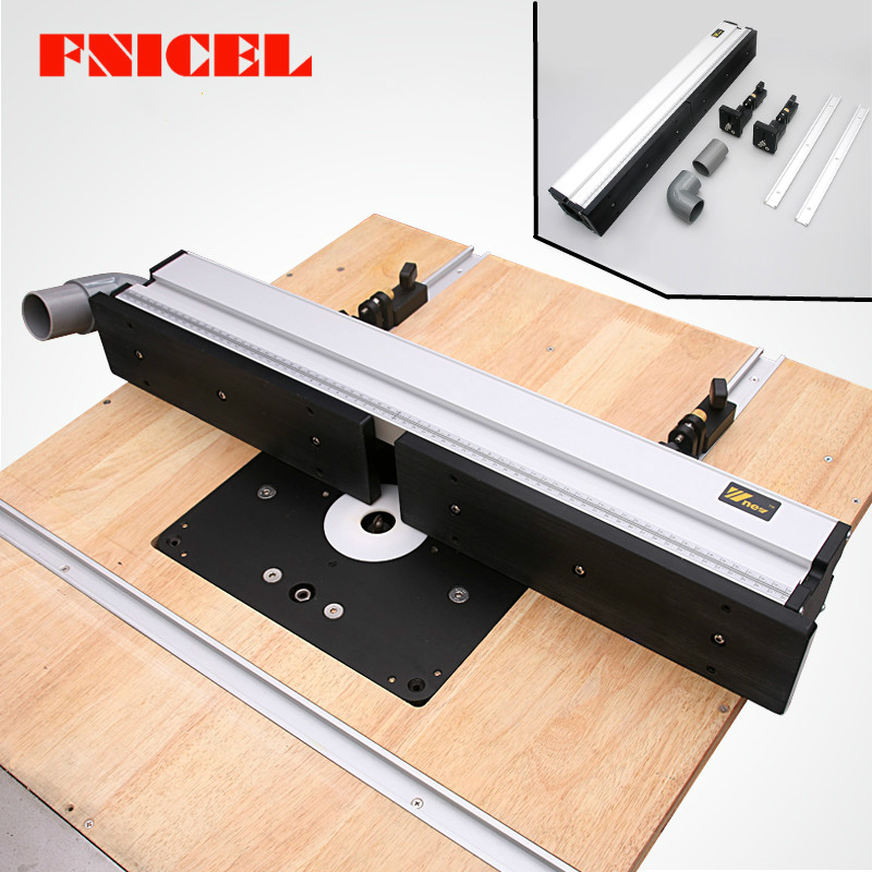 Aluminium Profile Fence with Scale and Sliding Brackets Tools for Woodworking DIY Workbench|Hand Tool Sets| |  - title=
