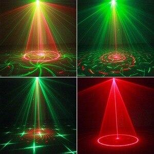 Image 3 - 24 طرق LED ديسكو جهاز عرض ليزر ضوء المرحلة تأثير ستروب مصباح ل DJ الرقص الطابق عيد الميلاد المنزل إضاءة داخلية تظهر