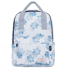 цены 100% Brand New Women Laptop Backpack for Girl Teenage Mochila Feminina Canvas Breathable School Bag Soft & Comfortable Feeling Female Shoulder Bag for Traveling Big Capacity Sac A Doc Japanese Style Maple Leaf Rucksack