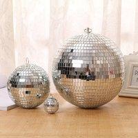 مرآة زجاجية كبيرة ديسكو الكرة DJ KTV الحانات كشاف إضاءة للحفلات إضاءة دائمة ديسكو الكرة عاكس ضوء الزجاج مرآة مع ديسكو