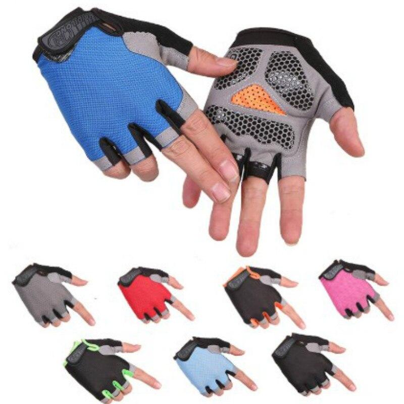 Cyclisme demi-doigt gants anti-dérapant Sport de plein air Protection solaire gants de cyclisme respirant maille tissu Sport vélo accessoires