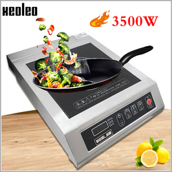 XEOLEO Commercial Induction cooker 3500W Stainless steel Electromagnetic Heating Cooker Electromagnetic Stove with timing