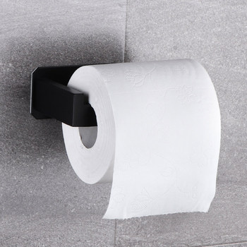 No-Drill Self Adhesive Toilet Paper Holder Stainless Steel Bathroom Kitchen Roll Paper Accessory Tissue Towel Rack Metal Holders kitchen roll paper self adhesive wall mount toilet paper holder stainless steel bathroom tissue towel accessories rack holders