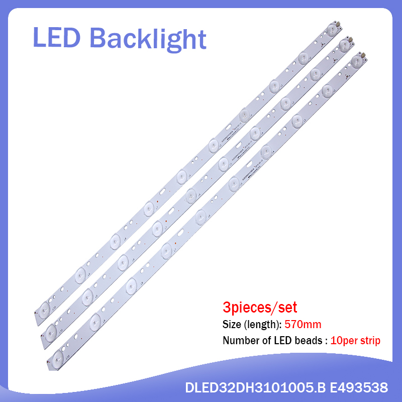 New 30 pieces/set 1PCS=10LED 570mmLCD TV LED Back light D304PHHB01F5B KJ315D10-ZC14F-03 303KJ315031 D227PGHBYZF6A <font><b>E348423</b></font> image