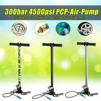 3 Stage High Pressure Inflator Stainless Steel Manually Compressor Pump 4500psi 300bar 30mpa For PCP Air Guns Hunting Paintball