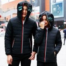 High Quality Mens Jacket Warm Hooded with Glasses coat men Thick Puffer Jacket Coat Men Casual Winter jacket for men Parka Men