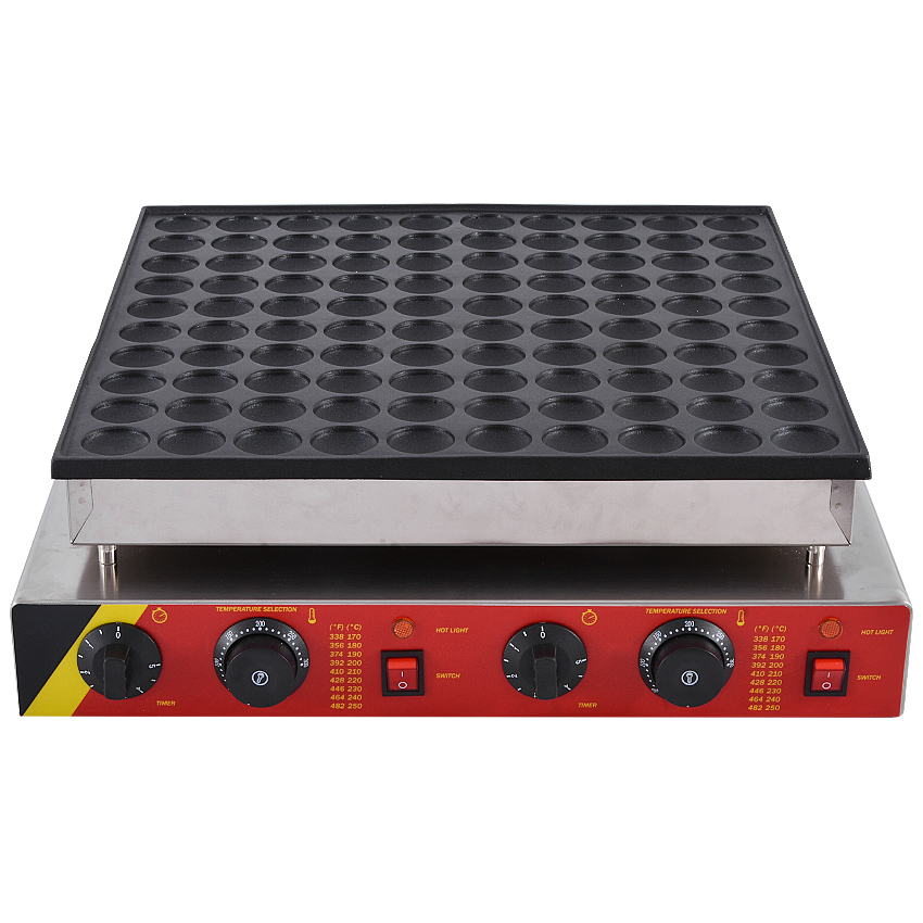 Commercial Pancake Maker Non-stick Maker  Mini Waffle Baker Machine 1PC NP-545 110V/ 220V 3200W,Waffle Size 45 * 45 * 10mm 1