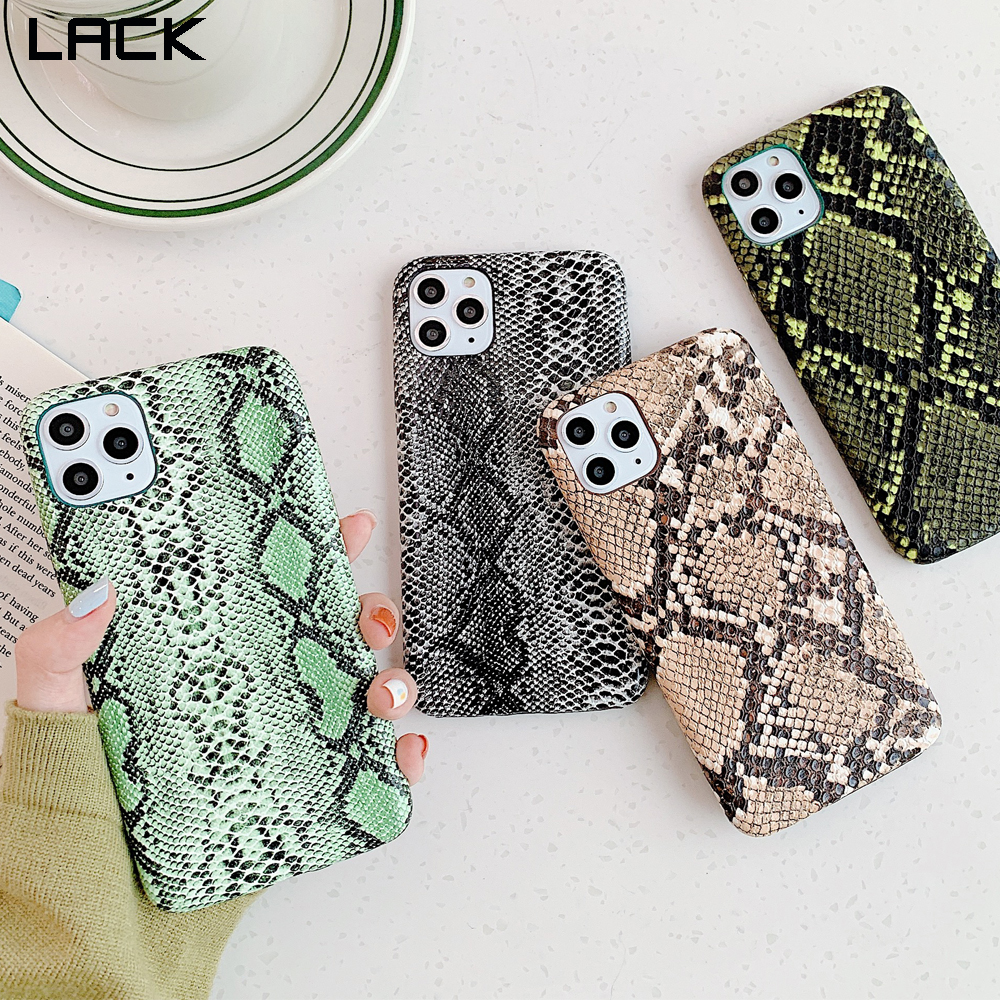 LACK Snake Skin PU Leather Cases For iphone 11 11Pro Max 7 8 Plus X XS Max XR 6 6S Phone Case Crocodile Texture Back Cover Coque