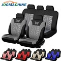 JOGMACHINE Brand Embroidery Car Seat Covers Set Universal Fit Most Car Covers with Butterfly Pattern Detail Styling Seat Protect