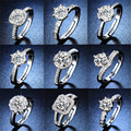 40 Style Trendy Women Ring AAA Crystal Zircon Male Ring Charms Bridal Wedding Engagement Ring For Women Open Ring