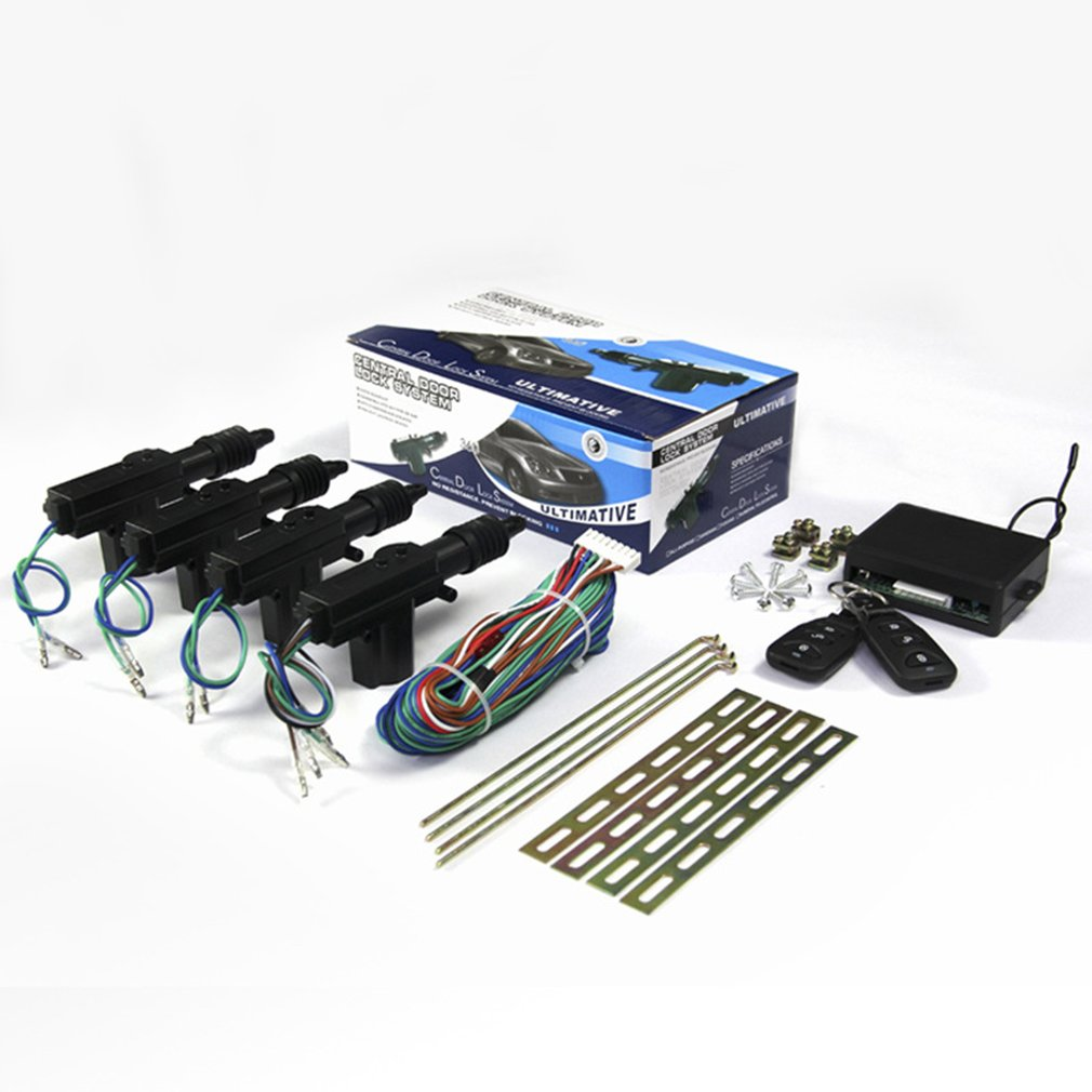 Universal Car Door Lock Keyless Entry System Remote Central Control Locking Kit With Trunk Release Button