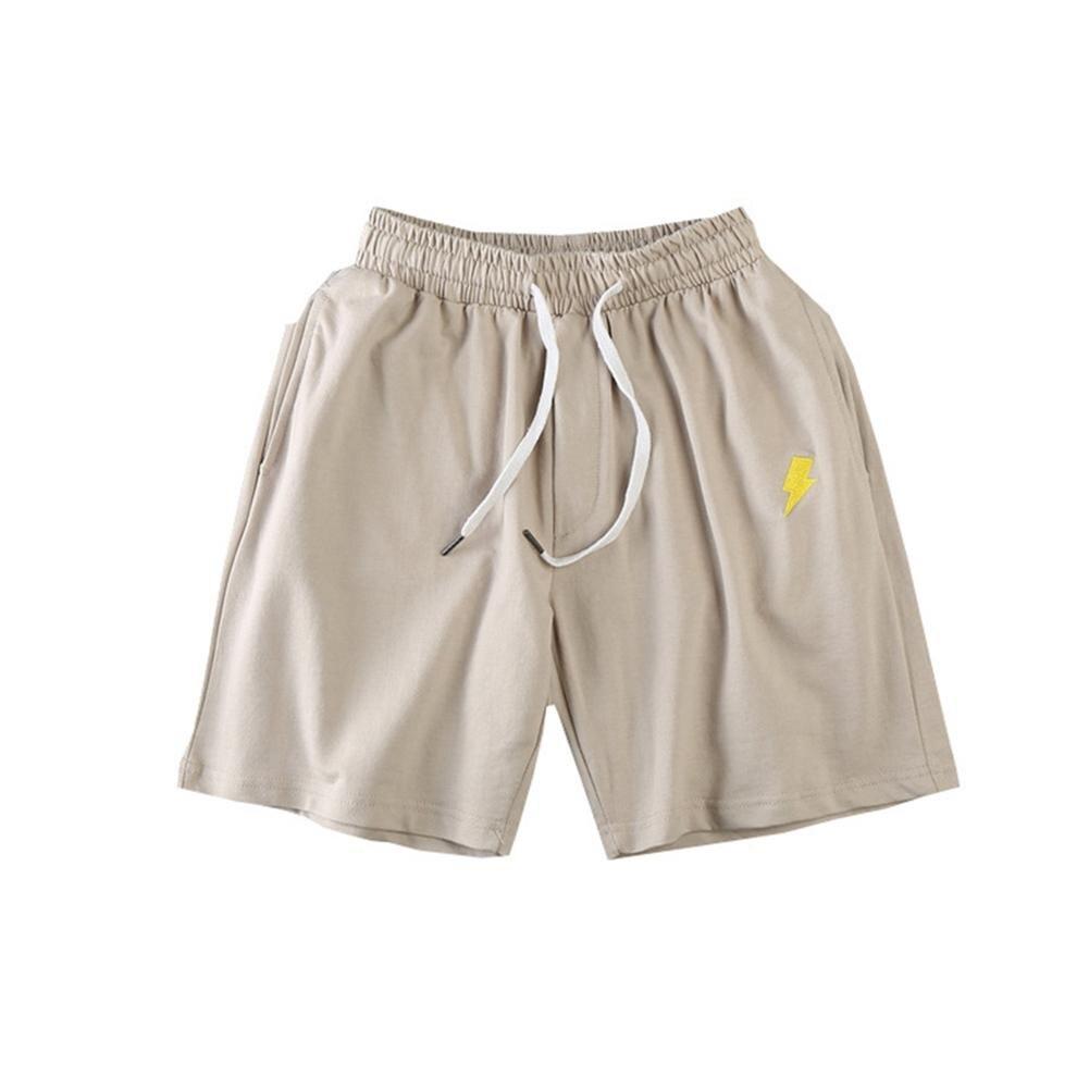 Men Sun Moon Quick Drying Drawstring Elastic Fifth Pants Board Sports Shorts 3