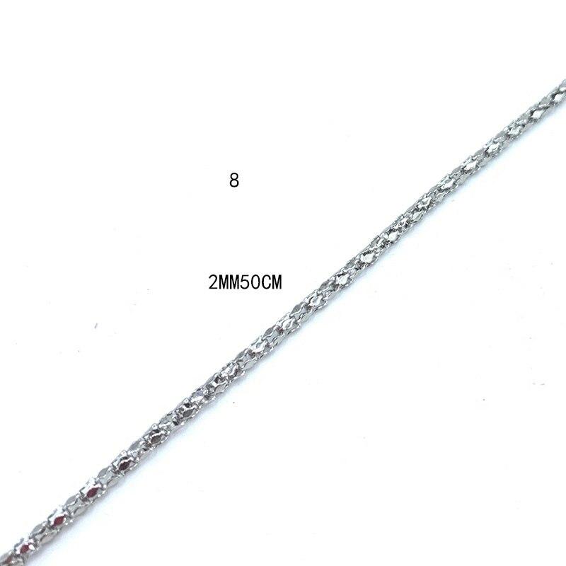 USENSET, звено, ожерелье s 304, цепи из нержавеющей стали, никогда не стираются, цветная бусина, коробка, киль, подвеска, ожерелье, ювелирные изделия, подарки - Окраска металла: 8