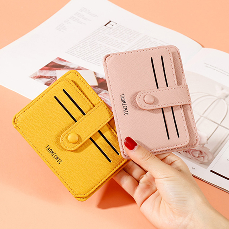 Luxury Brand Leather Credit Card Holder Women Short Zipper Coin Purse Designer Mini Clutch Wallet Female Money Bag Small Wallets