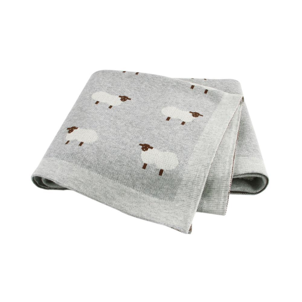 Baby Blankets Knitted Newborn Swaddle Stroller Bedding Wrap Infantil Boys Girls Receiving Blanket Children Windproof Quilts