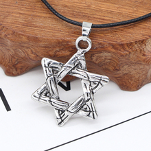 Israeli Star Of David Necklace For Men Women Religious Vintage Hollow Hexagon Star Metal Pendant Necklaces Retro Jewelry Gifts necklaces for women judaism menorah star of david pendant necklace 39x32mm silver plated color fashion jewelry