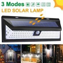 90 100 118 180 LED Solar Light Outdoor Solar Lamp Powered Sunlight PIR Motion Sensor Waterproof Street Lamp Garden Decoration