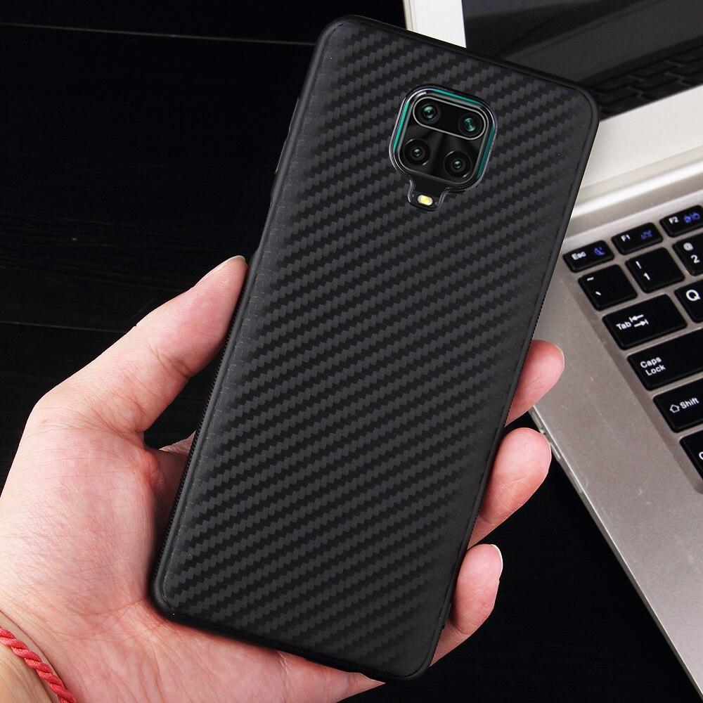 Soft Silicone case For Xiaomi Redmi Note 9S Luxury Carbon fiber Slim Skin Protective back cover For xiaomi redmi note 9 pro max