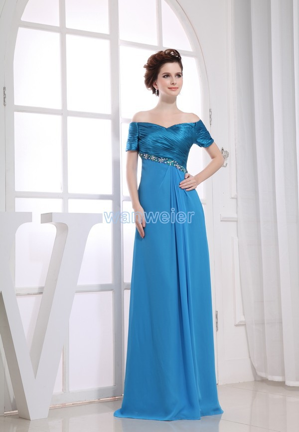 Free Shipping New Maxi Long Mother Dress Brides Maid Gown Custom Size/color Blue Celebrity Evening Mother Of The Bride Dresses