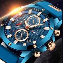 Модные деловые мужские часы спортивные многофункциональные кварцевые