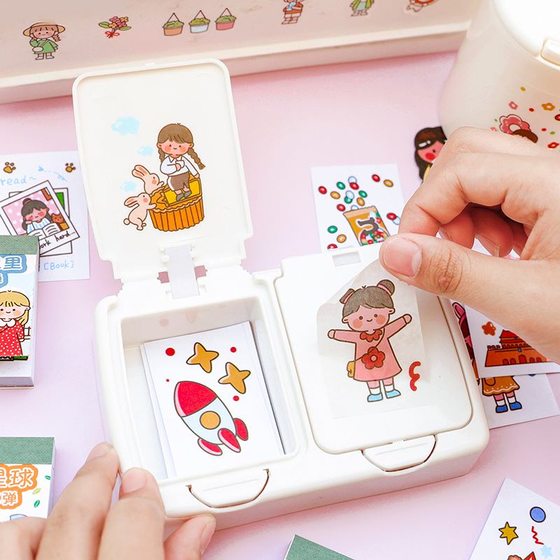 Kawaii Girl Boy Pattern Decoracion Diary Christmas Stickers DIY 50 Pcs/Pack Scrapbooking Stationery