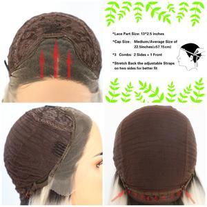 Image 5 - BeautyTown perruque en soie avec racines foncées ombré marron naturel ondulé, maquillage quotidien de reine, perruque synthétique présente pour femmes, mariage