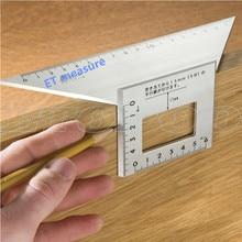 Японский алюминиевый сплав квадратный угол линейки 45 градусов 90 градусов измеритель угломер для многофункционального столярного деревообрабатывающего инструмента