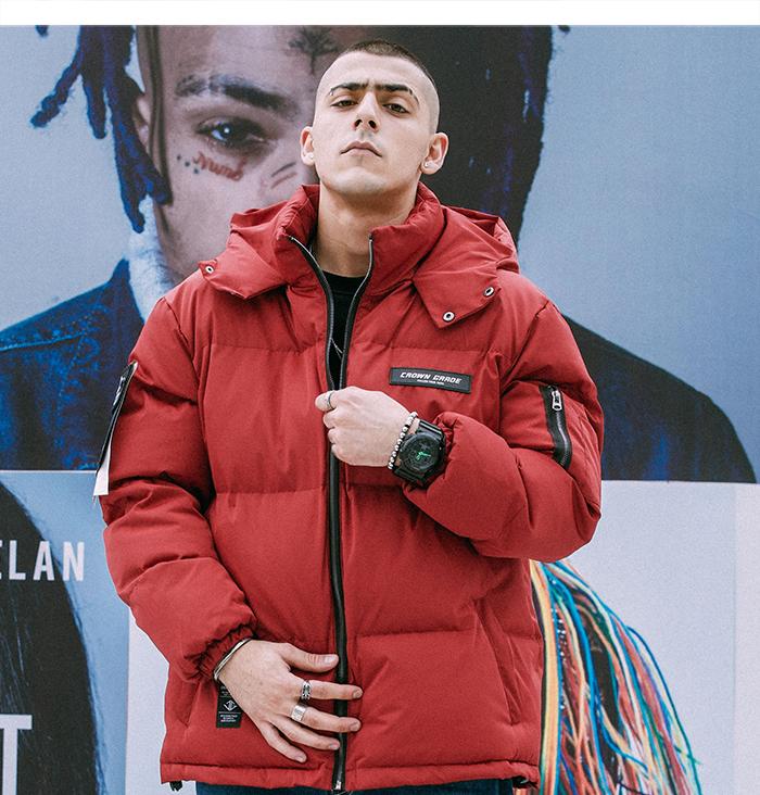 red parka jacket mens