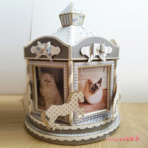 Image 3 - Carousel Box Metal Cutting Dies DIY Scrapbooking Card Stencil Craft Handmade Album Handbook Decoration