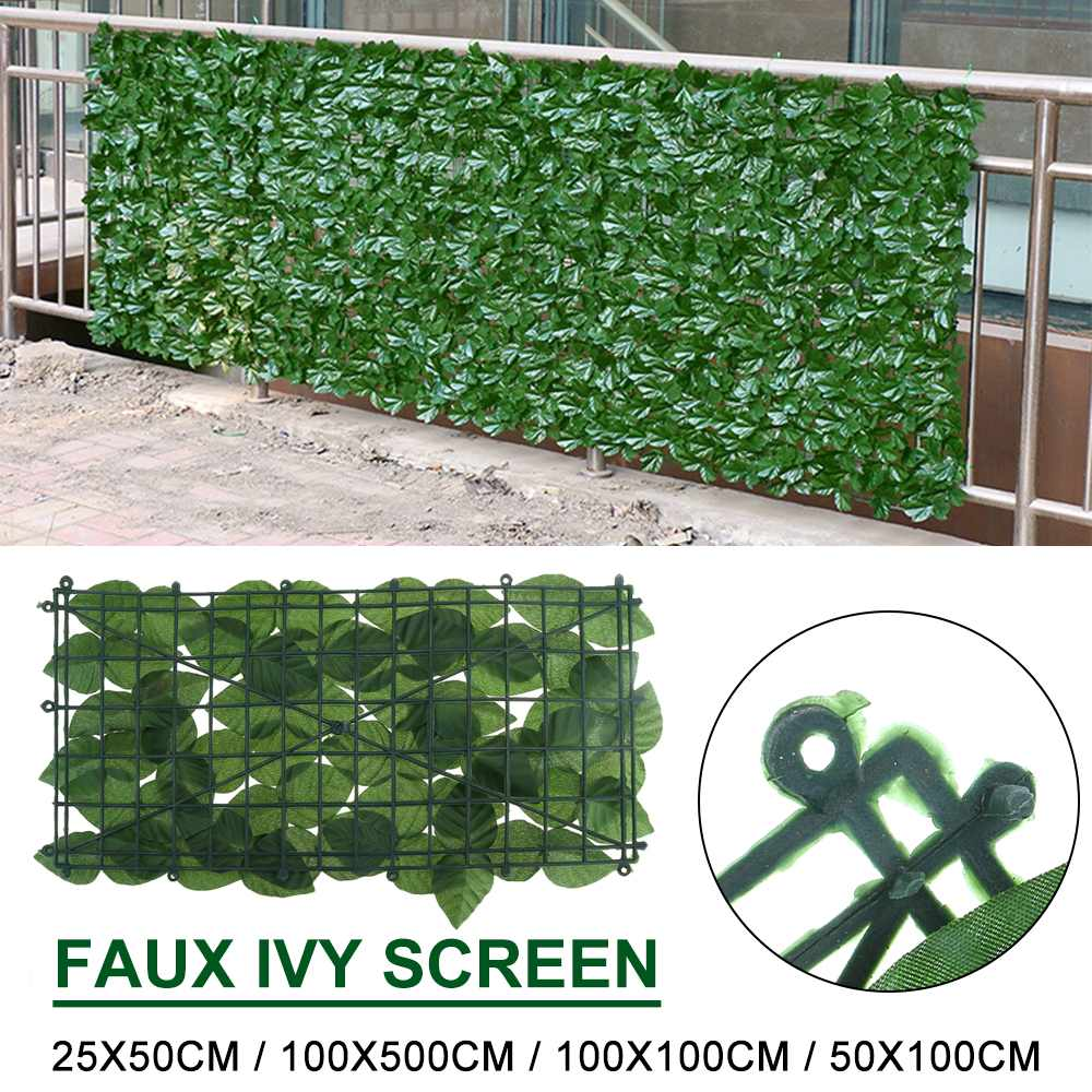 5 1 0 5m Artificial Faux Ivy Leaf Privacy Fence Screen Screening Hedge for Outdoor Indoor Decor Garden Backyard Patio Decoration