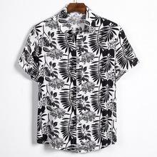 Nowe męskie koszule letnie męskie nadrukowana moda koszule z krótkim rękawem en hawajskie codzienne dzikie koszule klasyczne jeden topy z guzikami tanie tanio Dihope COTTON Suknem Drukuj Pojedyncze piersi Skręcić w dół kołnierz Na co dzień REGULAR men short sleeve shirts Casual Cartoon 3D Print Short Sleeve Tee Shirt