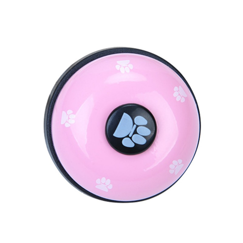 Pet Toy Training Called Dinner Small Bell Footprint Ring Dog Toys For Teddy Puppy Pet Call-5