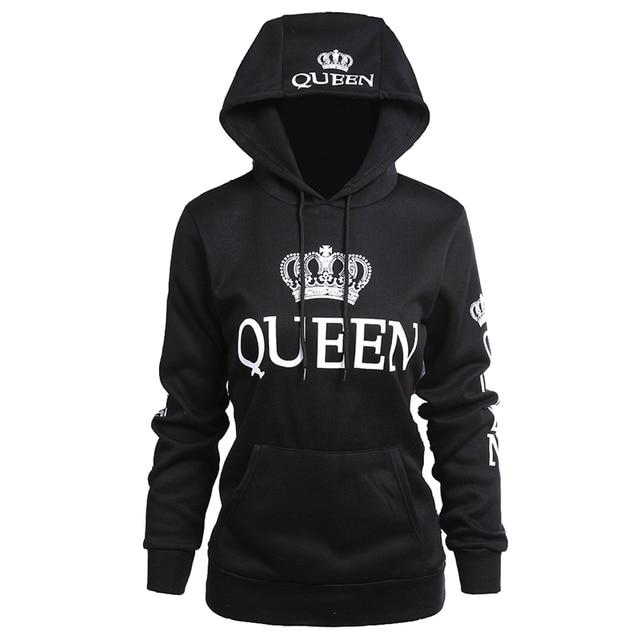 King And Queen Couple Matching Hoodie Sweatshirt Golden Crowns 3