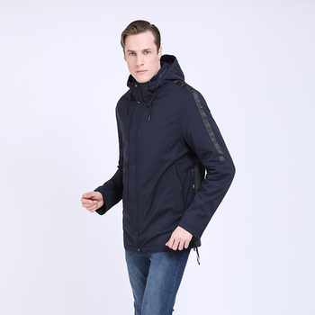 TALIFECK 2020 New Arrival Spring Autumn Mens Casual fashion Jacket High Quality Solid Hat Detachable Zipper Polyester Long coat