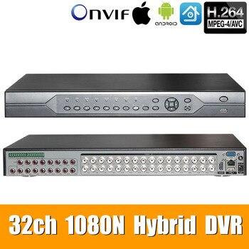 32ch 1080N DVR 6 in 1 Koaxial CVI TVI AHD Überwachung Video Recorder Systeme Hybrid NVR Für AHD 8CH IP unterstützung USB Wifi XMEYE