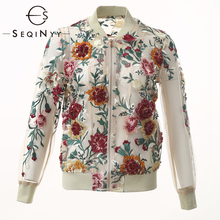 SEQINYY Mesh Jacket 2020 Summer Spring New Fashion Design Beading Embroidery Flowers Luxury Short Top