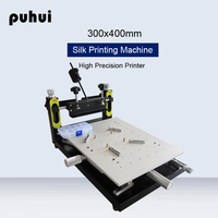 PUHUI High Precision Solder Paste Printing Machine PCB Board Welding 300x400mm Manual Stencil Printer SMT Welding Equipment