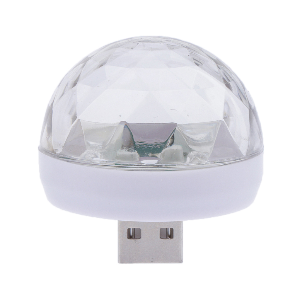 LED Small Magic Ball,Micro USB Mini RGB LED Bulb Club Pub Disco Party Music Crystal, For Android Or IPhone