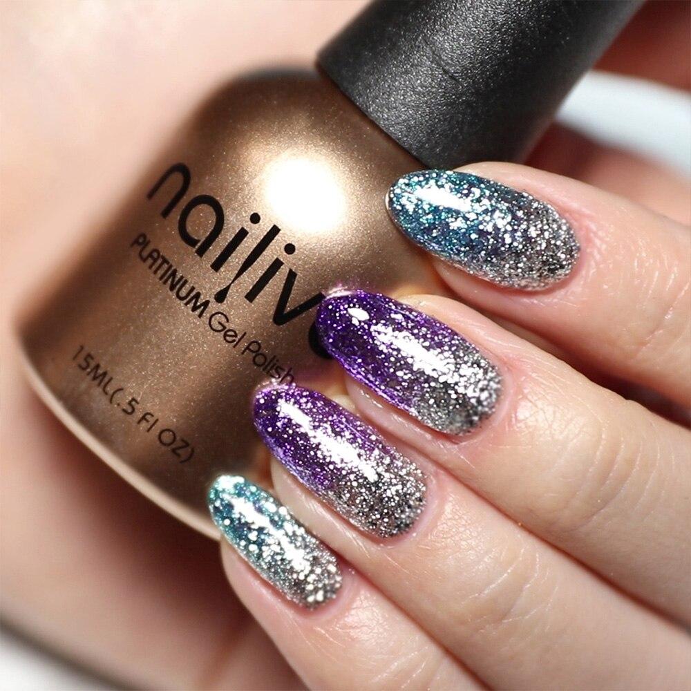 Gelike 15ml Glitter Gel Polish 12 Colors Gel Varnishes Shining Nail Platinum Gel Polish Kit in Nail Gel from Beauty Health