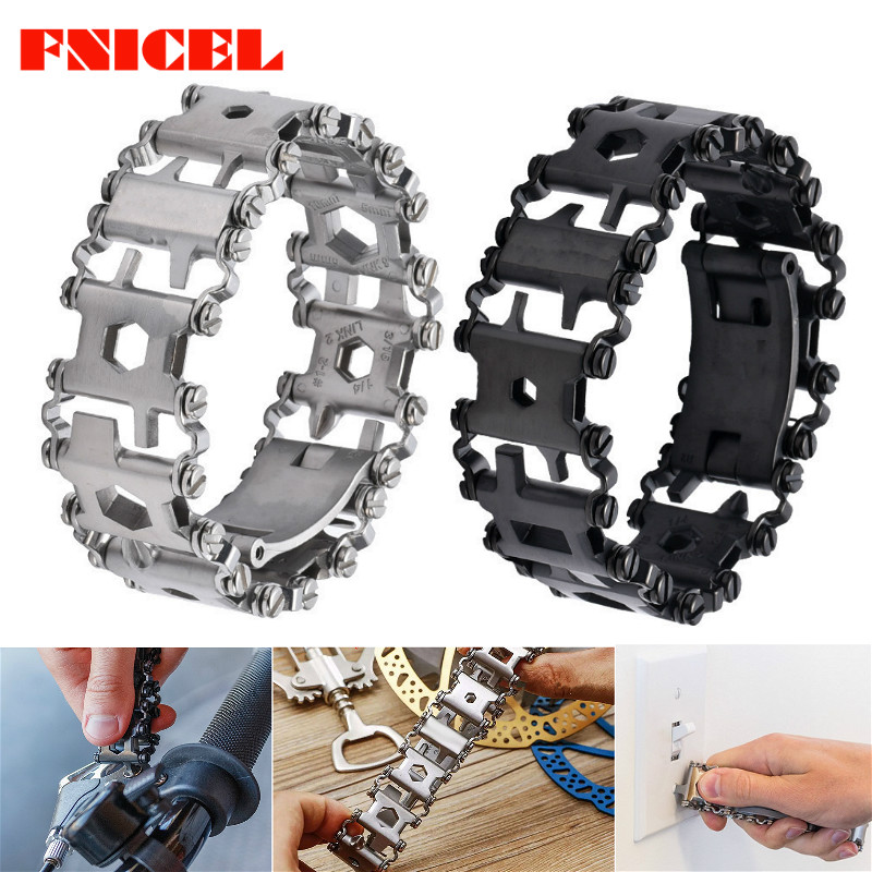 Wearable Tread 3cm 29 In 1 Multi Tool Bracelet Strap Multi-function Screwdriver Outdoor Emergency Kit Field Survival Bracelet
