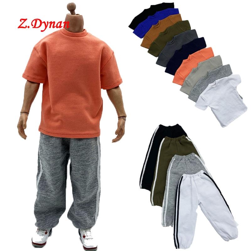 Мужская свободная рубашка в масштабе 1/6 12 цветов, повседневные штаны, спортивные брюки для 12 дюймов, популярные игрушки, экшн-фигурки Ph TBLeague, ...