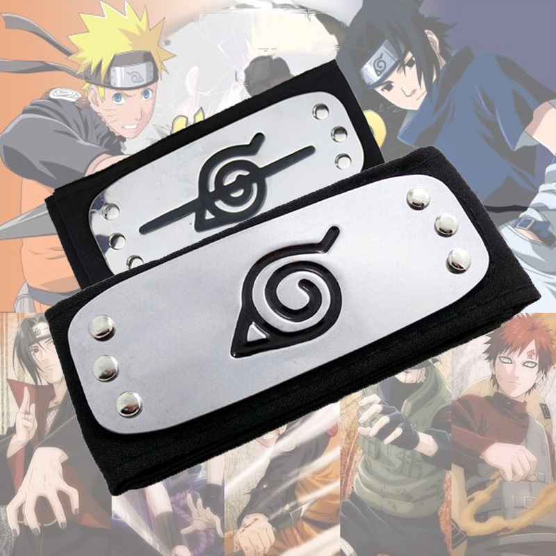 NARUTO Cosplay Costume Zinc Alloy Headband Kakashi Sasuke Gaara Ninja Prove Choker Rebellion Ninja Toy Gifts Cartoon Accessories