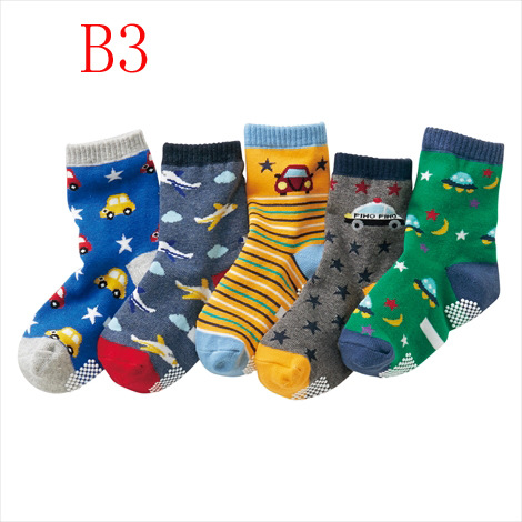 5 Pair/lot Baby Boy Anti Slip Socks Child Soft Cotton Toddle Socks Infant Floor Socks Cartoon Pattern Kids Sock 3 4 5 6 7 8 Year