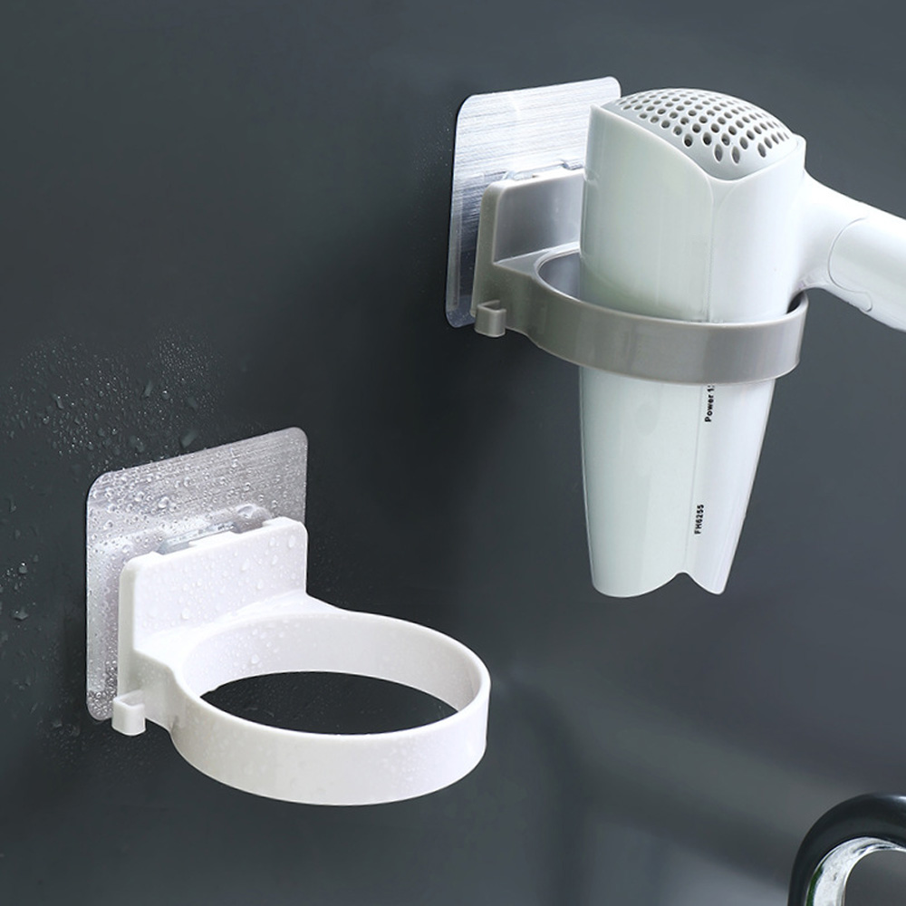 ABS Bathroom Shelf Storage High Quality Wall-mounted Hair Dryer Holder Hairdryer Holder Dia.8.9cm Rack Organizer For Hairdryer 1