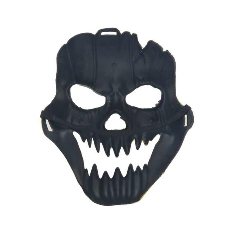 Novedad fantasma calavera esqueleto fiesta máscara antigua boca hueca ojos máscara cara completa juegos del ejército para Halloween Cosplay fiesta Decoración