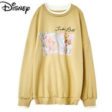 Original Disney Wonderful Fairy Harajuku Ladies Sweatshirt Female Printed Casual Long Sleeve Pullover hoodie  sweatshirt women