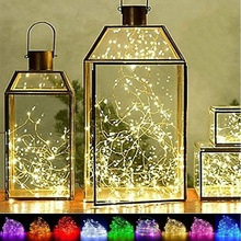 10LED/ 20LED/ 30LED/ 40LED/ 50LED/ 100LED Fairy Christmas LED String Lights Battery Operated Wedding Home Party Decor недорого