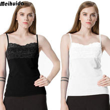 Women's Lace Tank Top Basic Camisole Adjustable Spaghetti Strap Tunic White Black Plus Size Vest Tops plus size cut out lace trim camisole